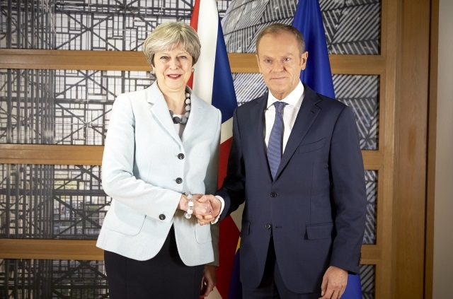 Theresa May, UK Prime Minister; Donald Tusk, President of the European Council. Copyright: European Union