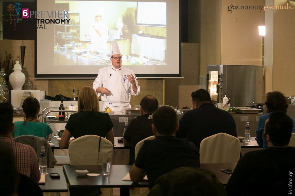 Chef Gregor Funcke during his professional culinary seminar.
