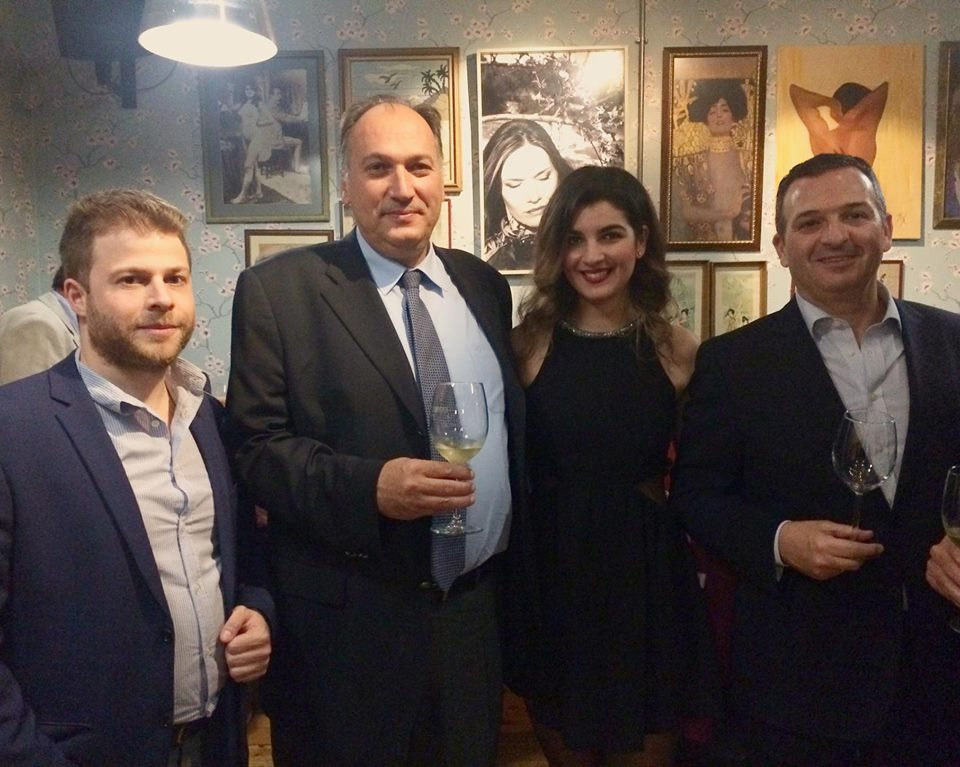 Nikos Frantzeskakis, Business & Tourism Development at Discover the World; George Maroutsos, General Director at Aktina Travel; Ioanna Nomidou, Sales Executive for Virgin Atlantic; and Lefteris Konstantopoulos, Sales & Marketing Director at Aktina Travel.
