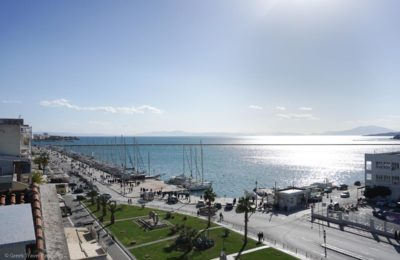 View of Volos Port from the Aegli Hotel.