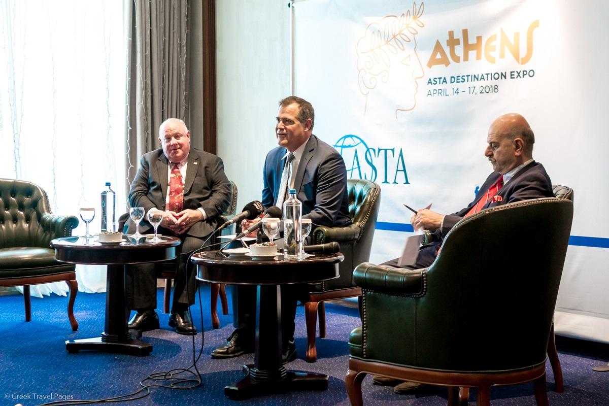 ASTA Vice President Robert Duglin; ASTA President & CEO Zane Kerby and FedHATTA President Lysandros Tsilidis.