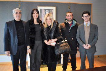 Tourism Minister Elena Kountoura met with the mayor of Istiaia-Edipsos Eleni Efstathiou.