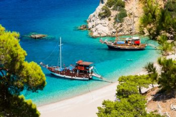 Beautiful Apella beach hidden between high mountains on Karpathos island. Greece. Photo Source: Visit Greece