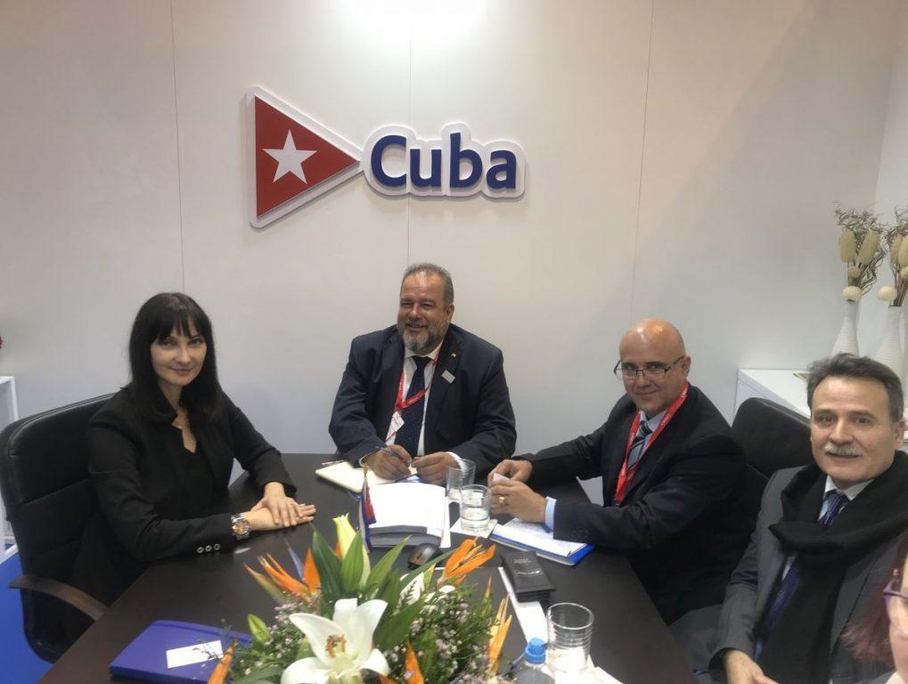 Greek Tourism Minister Elena Kountoura with her Cuban counterpart, Manuel Marrero Cruz.
