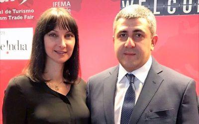 Greek Tourism Minister Elena Kountoura and new UNWTO Secretary General Zurab Pololikashvili.