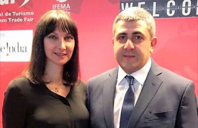 Greek Tourism Minister Elena Kountoura and new UNWTO Secretary General Zurab Pololikashvili.