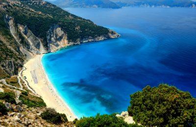 Myrtos Beach, Kefallonia Island. Photo Source: https://kefaloniaisland.org