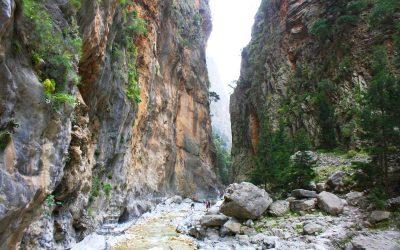 The Samaria gorge is part of Lefka Ori (White Mountains) on the island of Crete. Photo Source: @samaria.gr