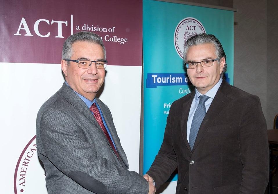 ACT provost and vice president for academic affairs Stamos Karamouzis andTCB presidentIoannis Aslanis.