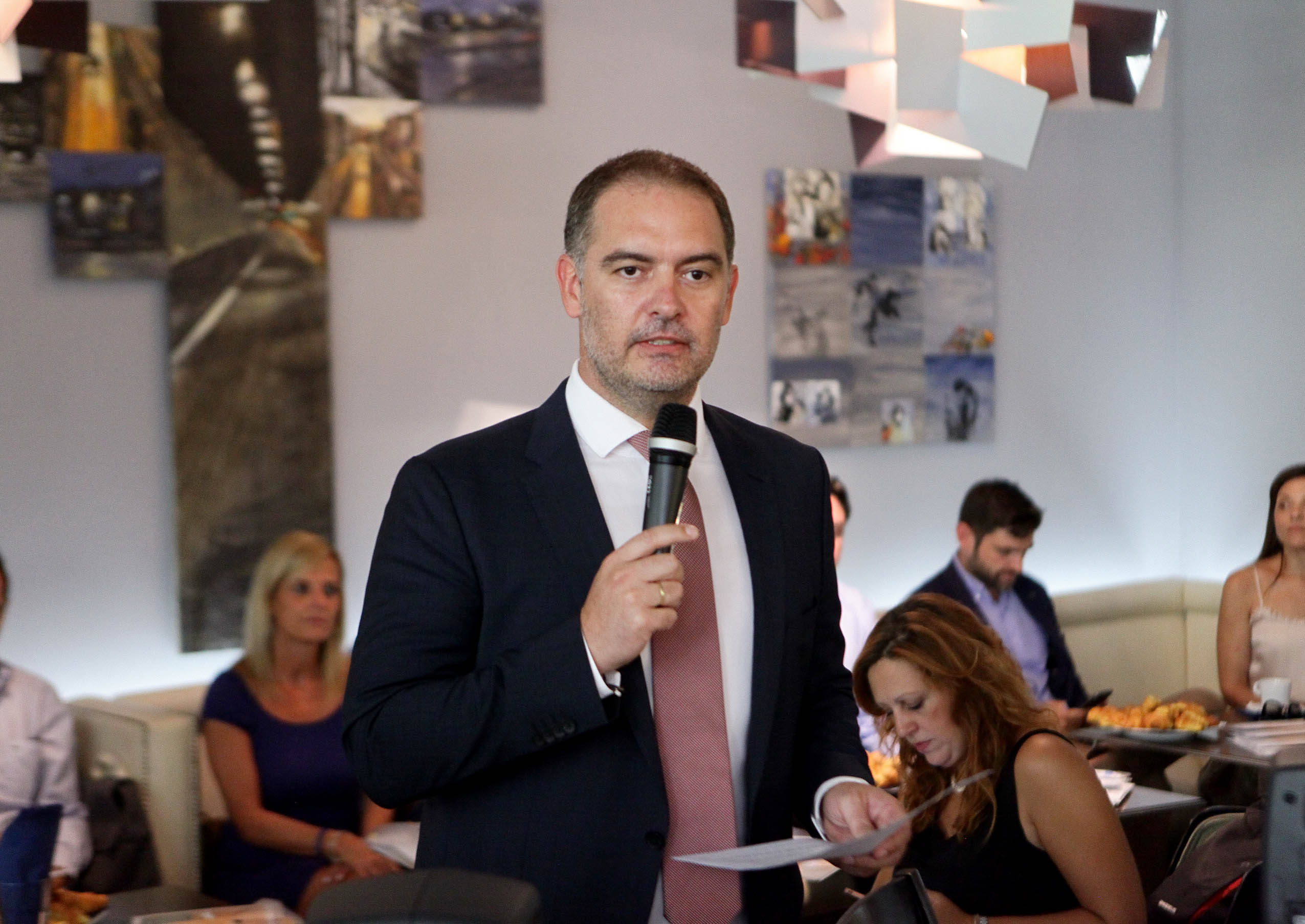 The president of the Hellenic Chamber of Hotels (HCH) Alexandros Vassilikos. Photo: GTP