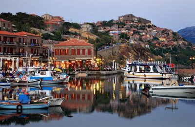 The village of Molyvos on Lesvos. Photo Source: Visit Greece