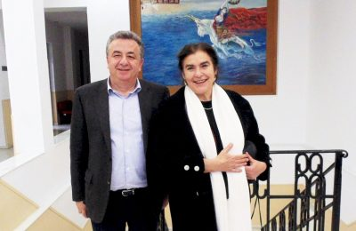 Region of Crete Governor Stavros Arnaoutakis and Culture Minister Lydia Koniordou