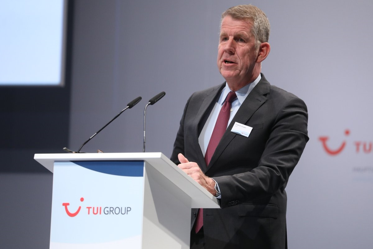 CEO Fritz Joussen presented TUI Group's Q1 results during the annual general meeting in Hanover.