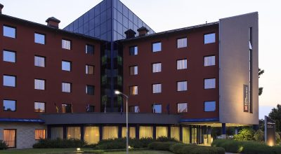 The Hilton Garden Inn in Malpensa, Milan.