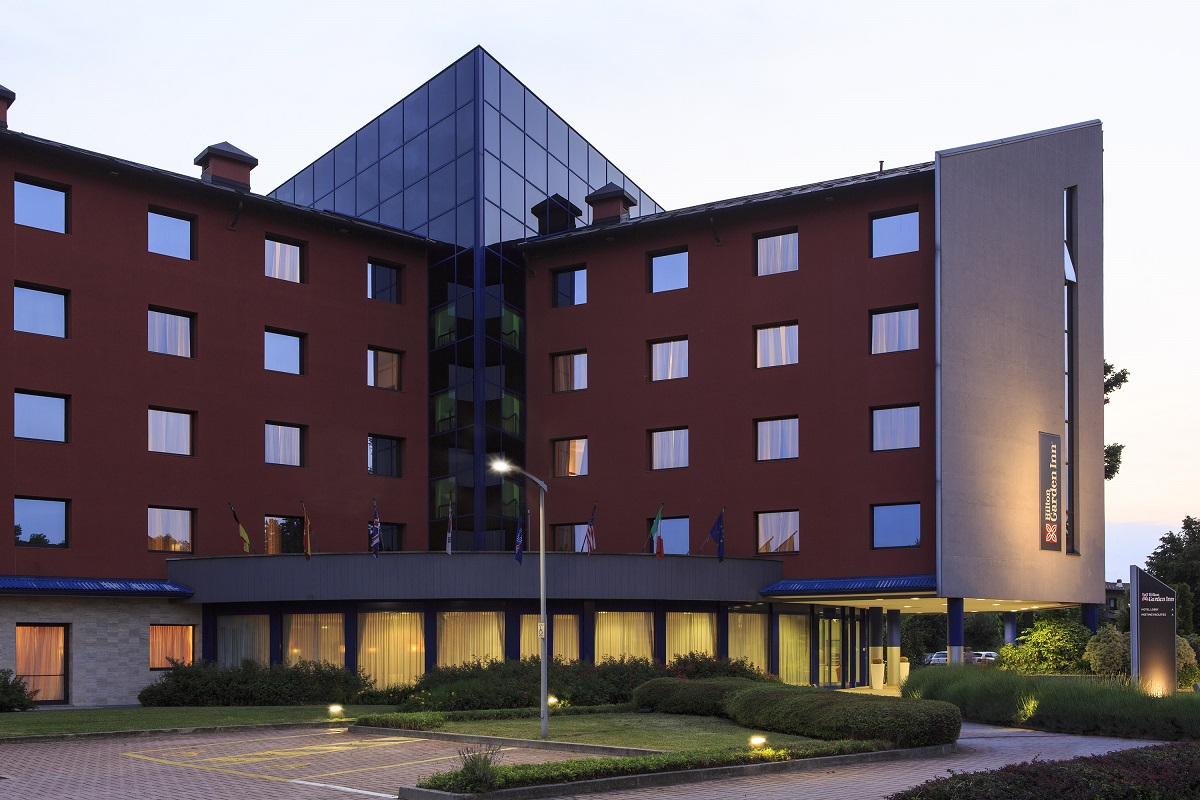 The Hilton Garden Inn in Malpensa, Milan.