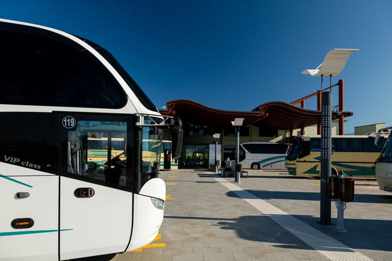 A KTEL bus depot in Greece.