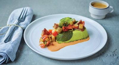 Spinach and basil omelette. Photo Source: Air Transat