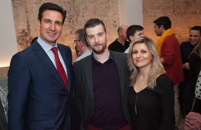 UNWTO special advisor Dimitris Tryfonopoulos; Axia Hospitality CEO Yiannis Kyritsis and director of GNTO UK Emy Anagnostopoulou.