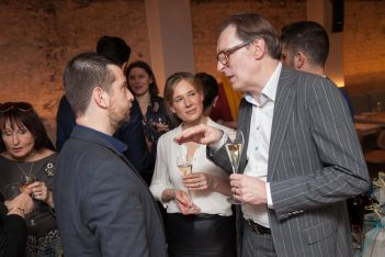 Axia Hospitality CEO Yiannis Kyritsis with Conde Nast Travellers' publishing director, Simon Leadsford and associate publisher, Juliette Ottley.