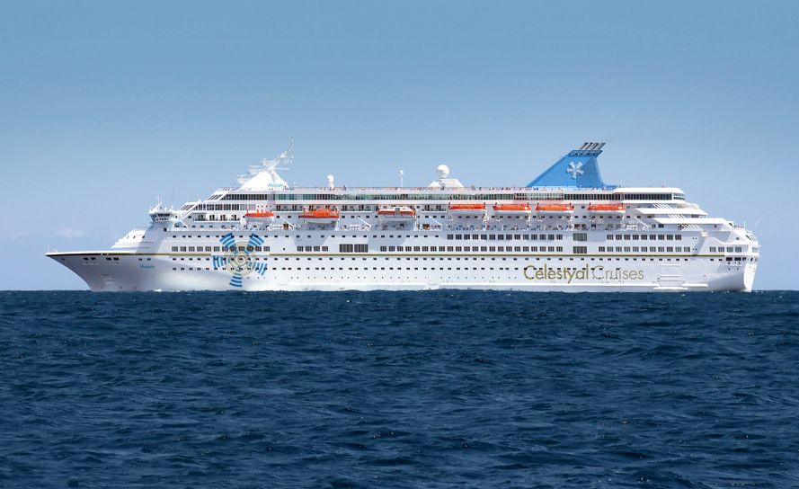 The Celestyal Majesty cruise vessel.