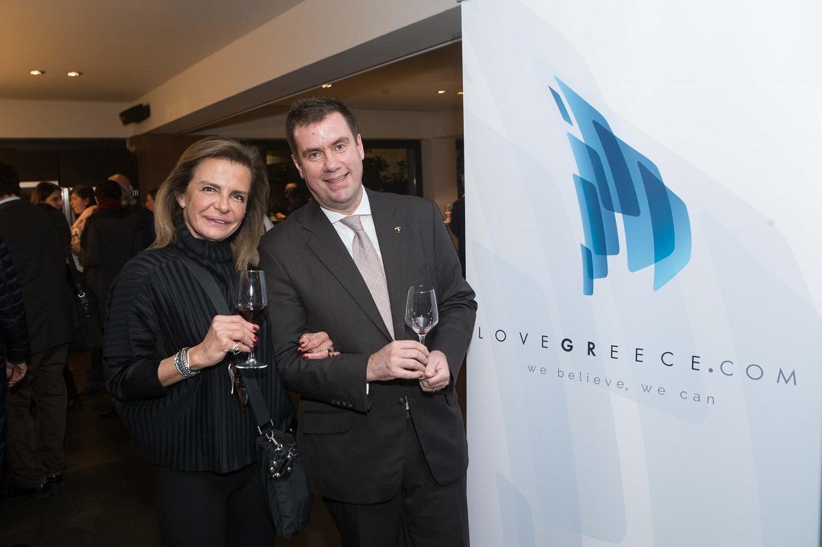 G & A Mamidakis Foundation president Gina Mamidakis and blugre CEO Konstantinos Lazarakis.