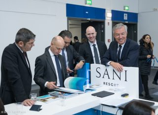 Sani/Ikos group CEO Andreas Andreadis at the Sani Resort stand during the ITB Berlin 2018.