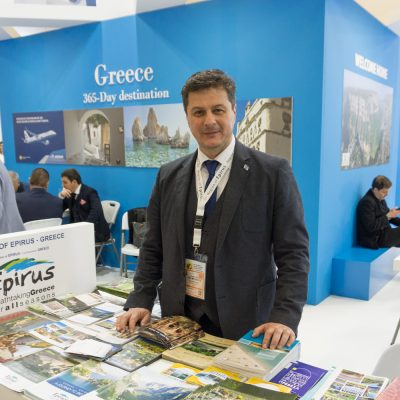 Epirus Region Tourism Department Representative Ilias Gartzonikas.