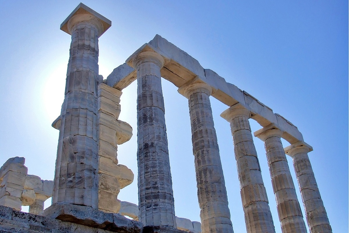 The Temple of Poseidon, Cape Sounion.