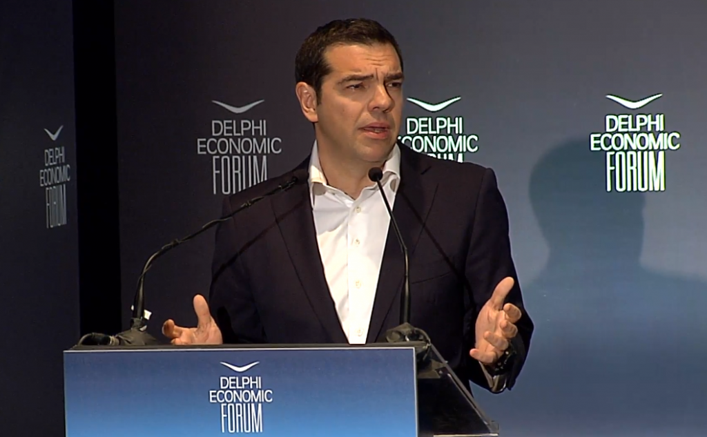 Greek Prime Minister Alexis Tsipras. Photo Source: @Delphi Economic Forum
