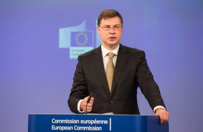 Valdis Dombrovskis, vice-president for Financial Stability, Financial Services and Capital Markets Union.