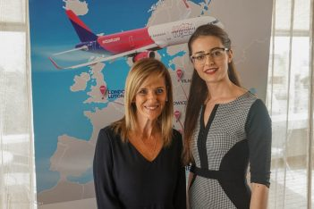 Marina Papageorgiou, AIA Press Office Director and Sorina Ratz, Wizz Air, Acting Head of Corporate Communications.