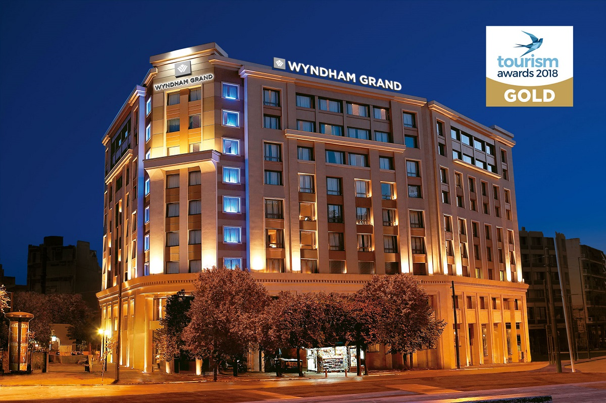 The Five Star Wyndham Grand Athens Has Been Honored With Gold Award For Best City Hotel In Hotels Resorts Category At Tourism Awards 2018