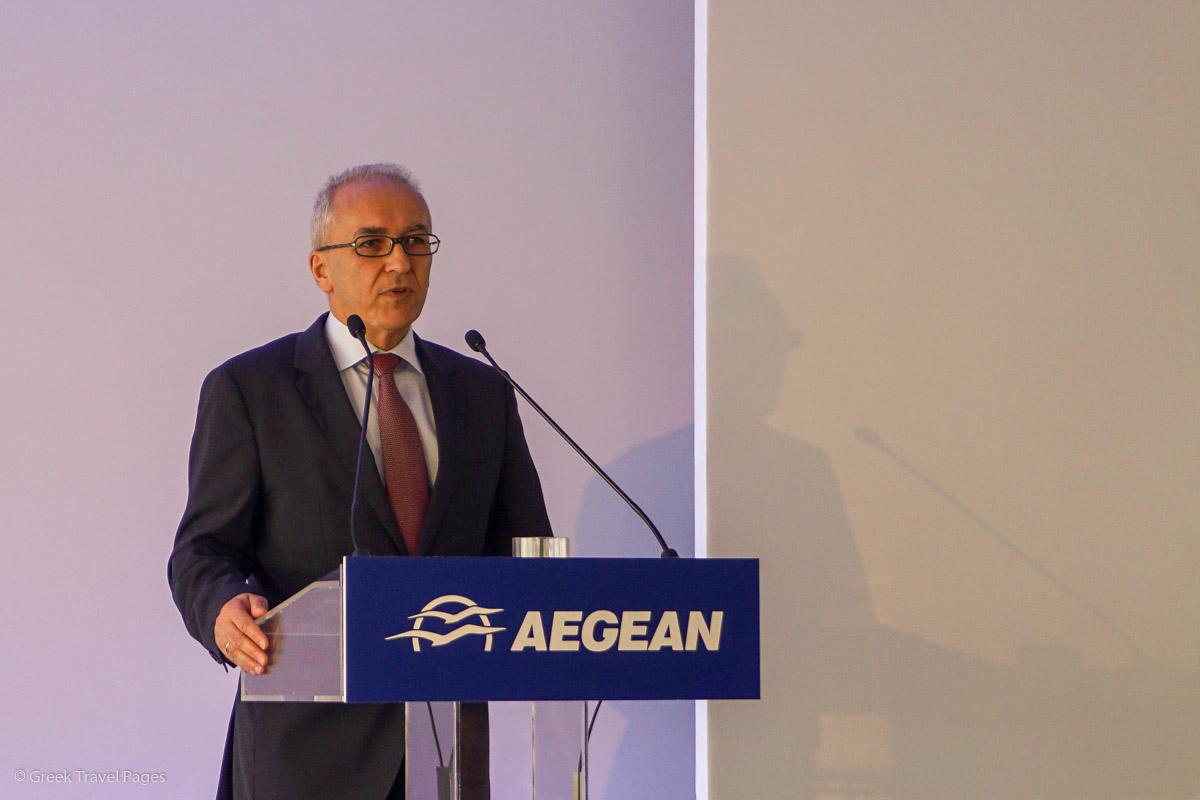 AEGEAN CEO Dimitris Gerogiannis.