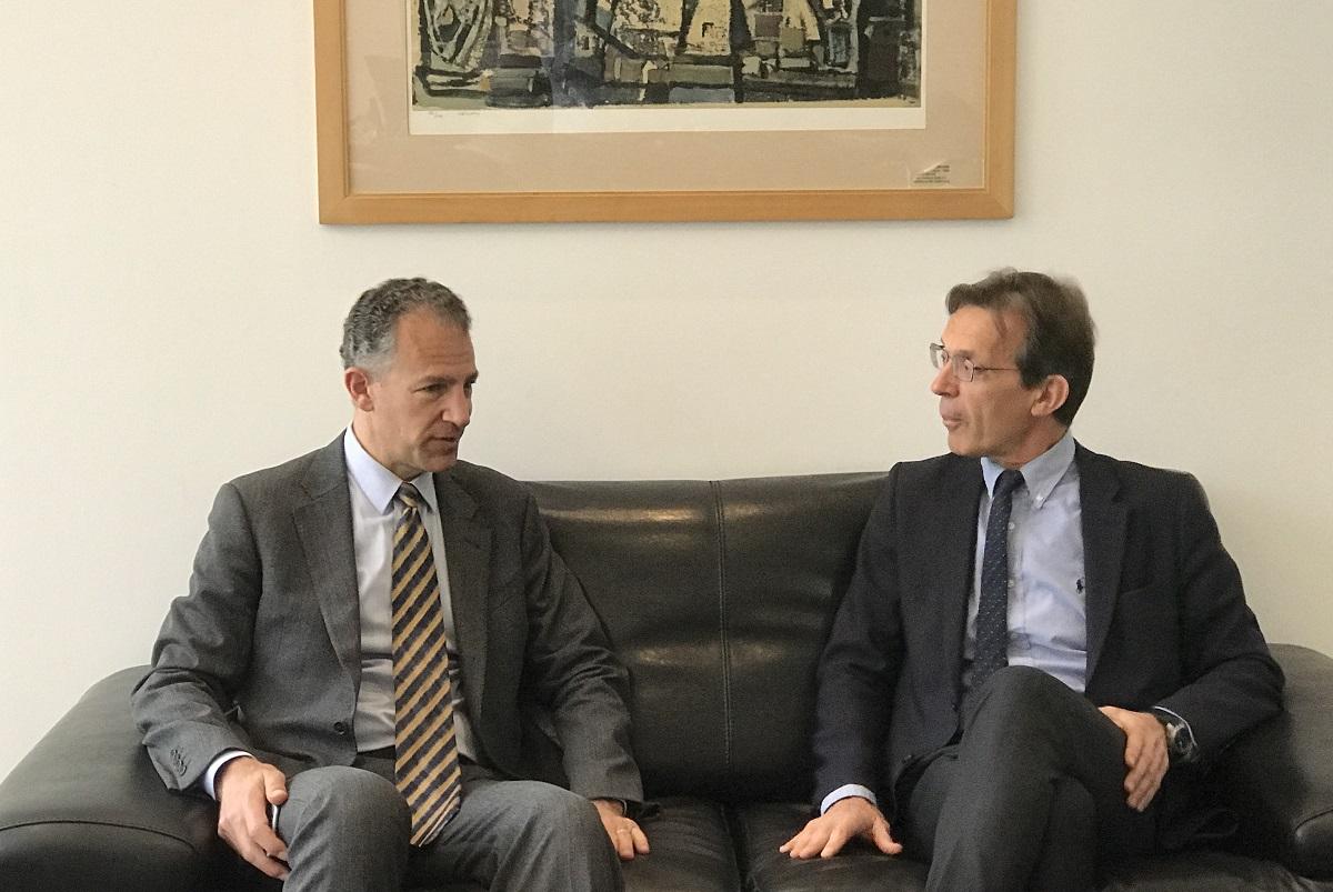 State Department Deputy Assistant Secretary for European and Eurasian Affairs Jonathan Cohen and TIF-Helexpo President Tasos Tzikas.
