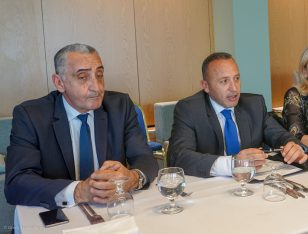 Giorgos Margaritis, general manager of Wyndham Grand Athens and Haris Siganos, CEO of Zeus International.