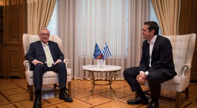 European Commission President Jean-Claude Juncker and Greek Prime Minister Alexis Tsipras. Photo Source: @Prime Minister GR