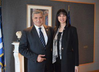KEDE President George Patoulis and Tourism Minister Elena Kountoura.