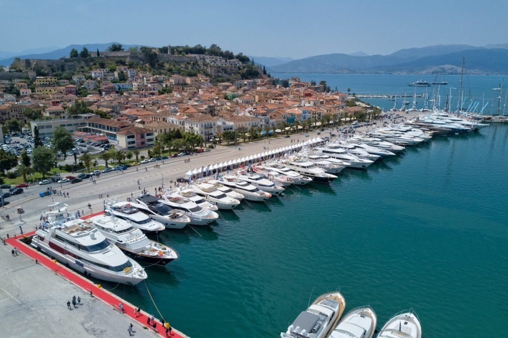 The 5th MEDYS 2018 opened its doors on April 28, and will run until May 1st in Nafplion. Photo Source: @Greek Yachting Association