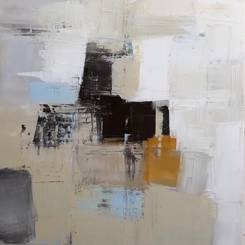 Sofia Petropoulou, Port, 2018, oil on canvas, 80x80cm