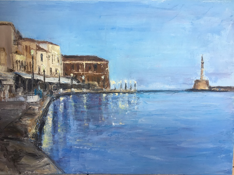 Tania Dimitrakopoulou, Lighthouse, oil on canvas