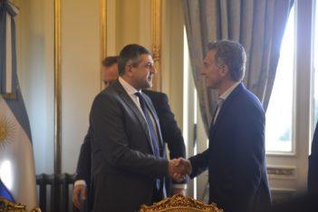 UNWTO Secretary General, Zurab Pololikashvili and the President of Argentina Mauricio Macri.