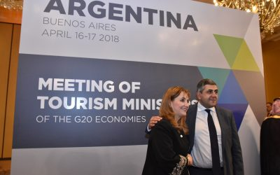Gloria Guevara, President and CEO, World Travel & Tourism Council (WTTC) and UNWTO Secretary-General, Zurab Pololikashvili.