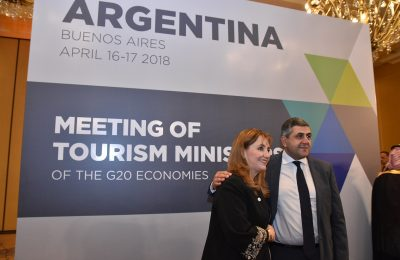 Gloria Guevara, President and CEO, World Travel & Tourism Council (WTTC) and UNWTO Secretary-General, Zurab Pololikashvili.