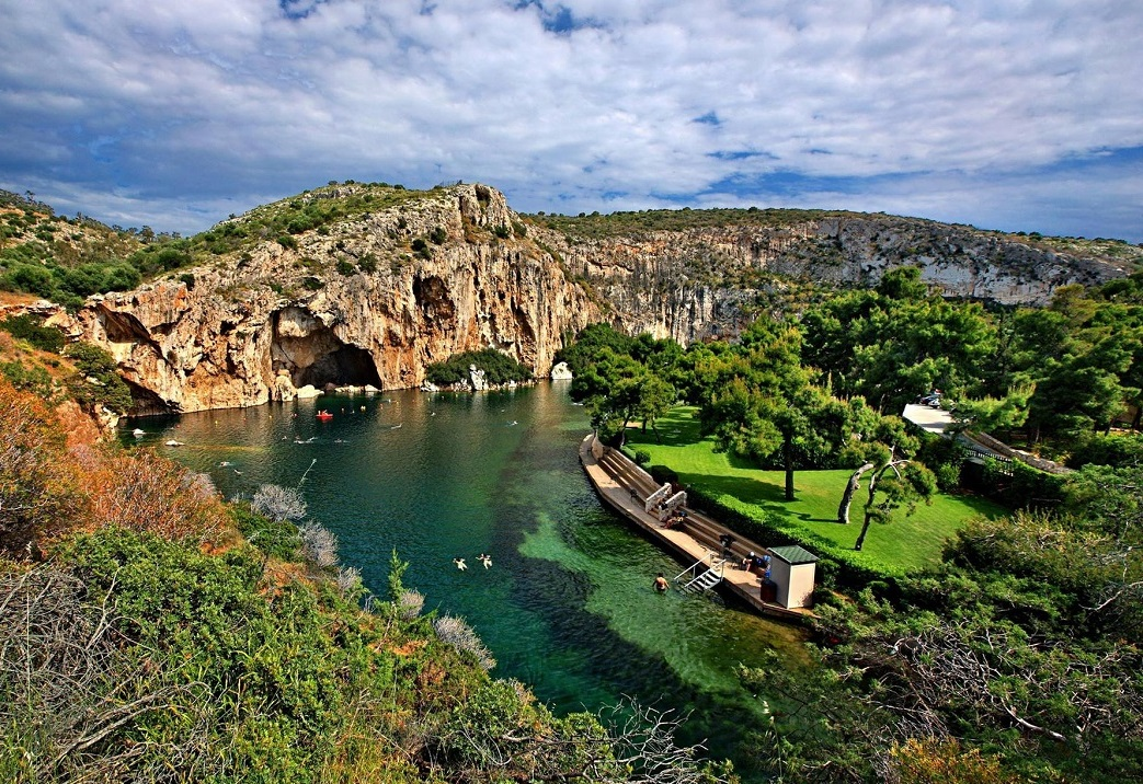 Lake Vouliagmeni in Attica. Photo Source: @Lake Vouliagmeni