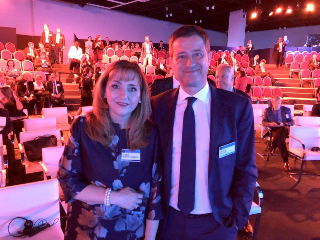 WTTC President Gloria Guevara and Secretary General for Tourism Policy and Development George Tziallas.