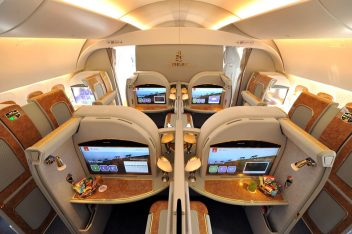 Emirates A380 First class, pr release