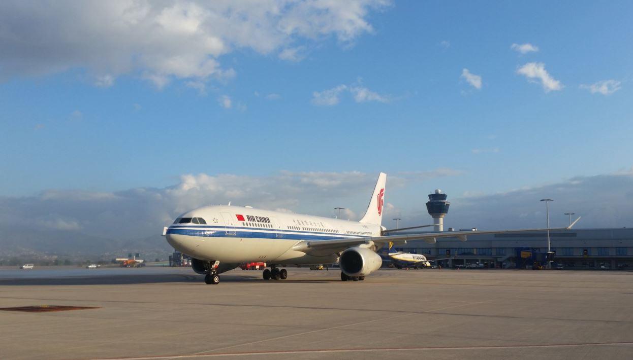 Air China at Athens International Airport (AIA). Photo source: AIA