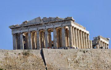 The Parthenon Temple on the Acropolis in Athens.