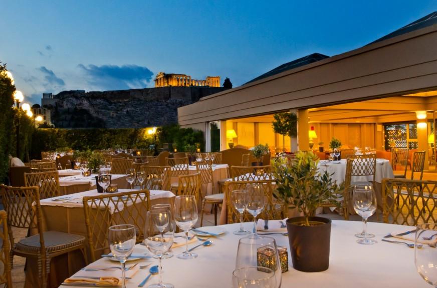 The Acropolis Secret roof garden bar and restaurant.