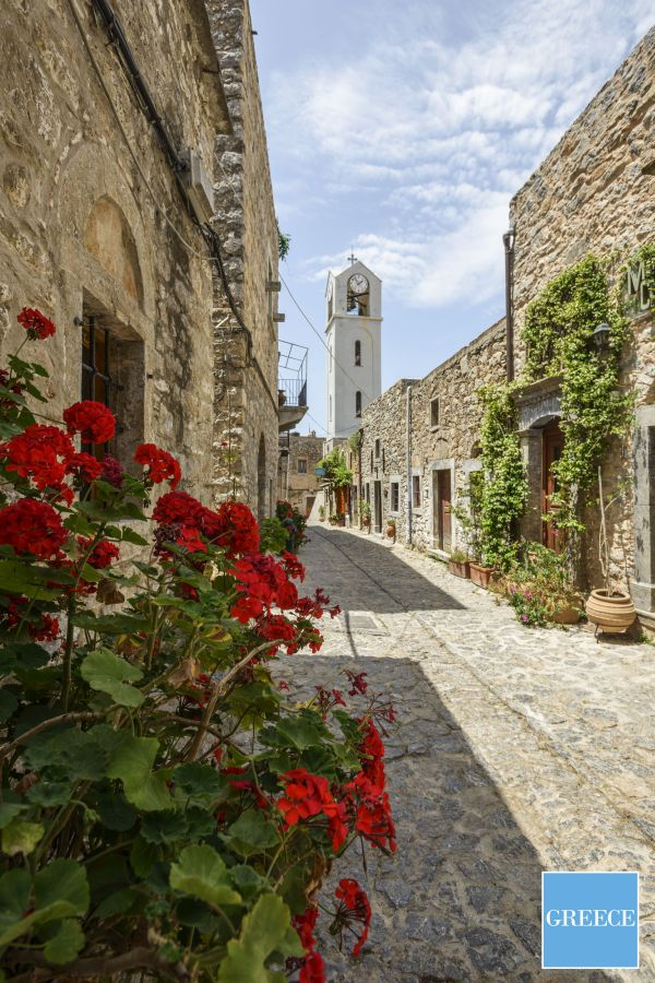 Chios, Church tower in Mesta traditional village. Photo source: GNTO